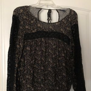 American Eagle Paisley Top, Size L